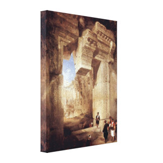 David Roberts - Entrance to the Golden Temple Stretched Canvas Print