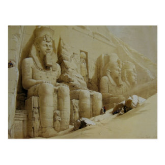David Roberts Great Temple Aboo Simbel Postcard