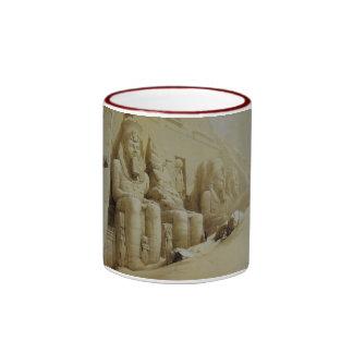 David Roberts Great Temple Aboo Simbel Ringer Mug
