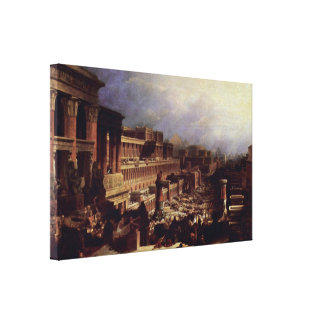 David Roberts - The exodus of the Israelites Stretched Canvas Prints