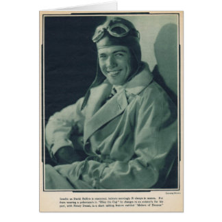David Rollins 1929 silent movie actor Card
