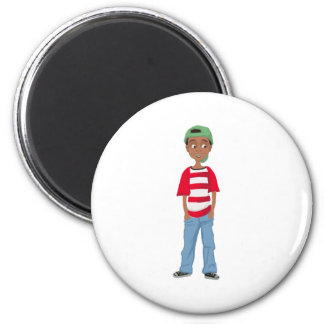 David round Refrigerator Magnet