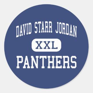 David Starr Jordania - panteras - alta - Long Beac Etiquetas