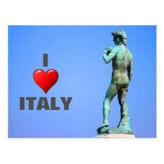 David, tarjeta de Florencia Tarjetas Postales