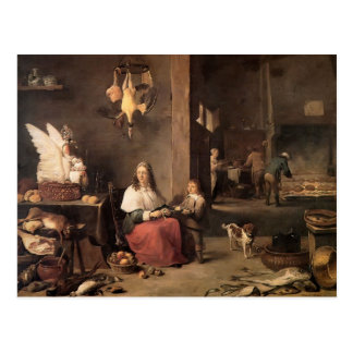 David Teniers the Younger- Kitchen Postcard