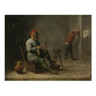 David Teniers the Younger- Smoker Postcard