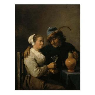 David Teniers the Younger- Tavern Scene Postcard