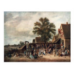 David Teniers the Younger- The Village Feast Post Cards