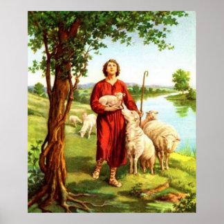 David The Shepherd Poster