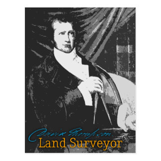 David Thompson Land Surveyor Postcard