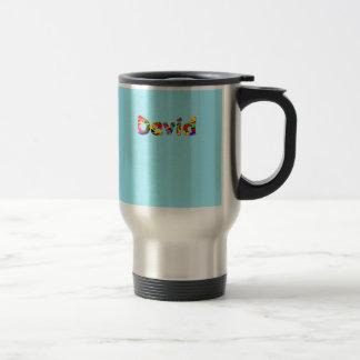 David travel mug in blue