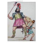 David vs Goliath Greeting Card