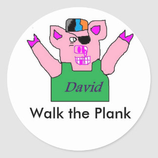 David, Walk the Plank Stickers