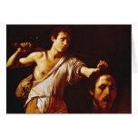 David with Goliath's Head Greeting Card