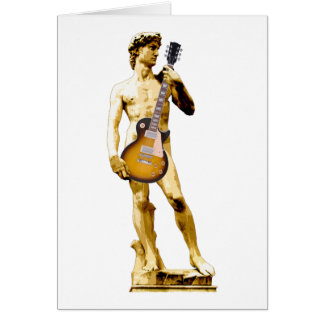 David with Guitar Card