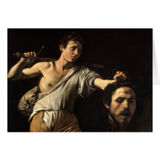 David with the Head of Goliath, Caravaggio Greeting Card