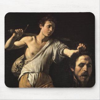 David with the Head of Goliath, Caravaggio Mousepad