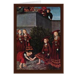 David y Bathsheba por Cranach D. Ä. Lucas (el mejo Tarjetas