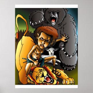 David y el león póster