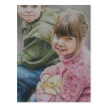 David y postal original del arte de Haley