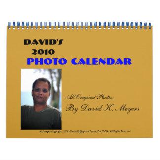 David's 2010, Photo Calendar