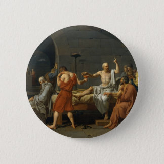 David's Death of Socrates Pinback Button
