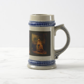 David'S Farewell To Jonathan By Rembrandt 18 Oz Beer Stein