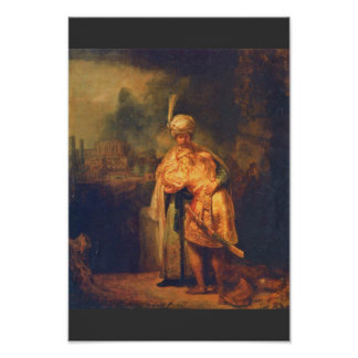 David'S Farewell To Jonathan By Rembrandt Poster
