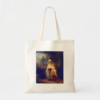 Davids farewell with Jonathan by Rembrandt Canvas Bag