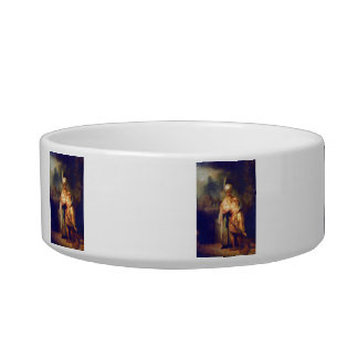 Davids farewell with Jonathan by Rembrandt Cat Food Bowl
