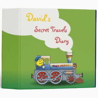 "David's Secret Travels Diary - 2.0"" Binder"