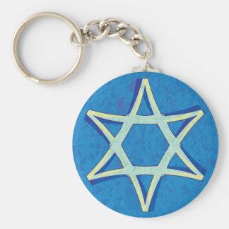 David's Star Keychain