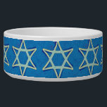 """David&#39;s Star Pet Bowl<br><div class=""""desc"""">Let your pet celebrate Hanukkah or your Jewish heritage with this lovely Pet Bowl depicting the Star of David.</div>"""