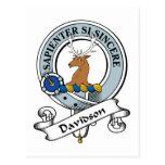 Davidson Clan Badge Postcard
