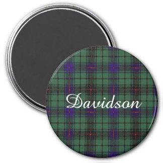 Davidson clan Plaid Scottish tartan 3 Inch Round Magnet