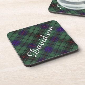 Davidson clan Plaid Scottish tartan Coasters