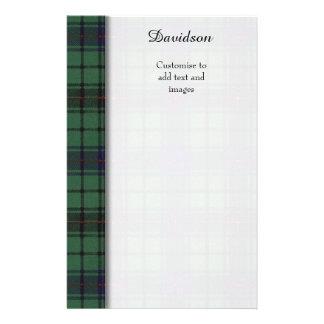 Davidson clan Plaid Scottish tartan Flyer