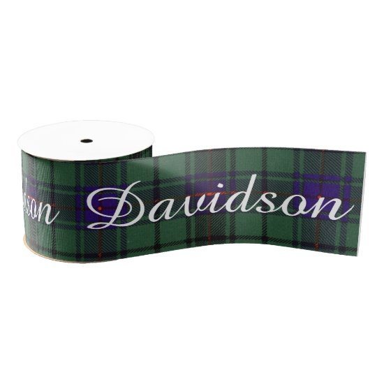 Davidson clan Plaid Scottish tartan Grosgrain Ribbon