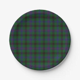 Davidson Clan Tartan Plaid Paper Plate