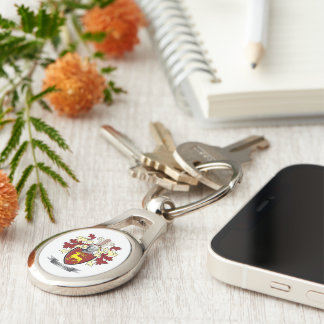 Davidson Family Crest Coat of Arms Keychain