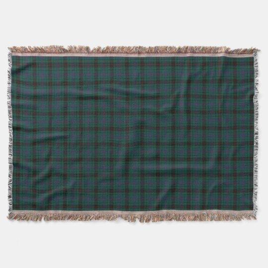 Davidson Family Tartan Forest Green Plaid Throw Blanket Zazzle Beauteous Cheap Plaid Throw Blanket