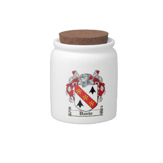Davie Family Crest Candy Jars
