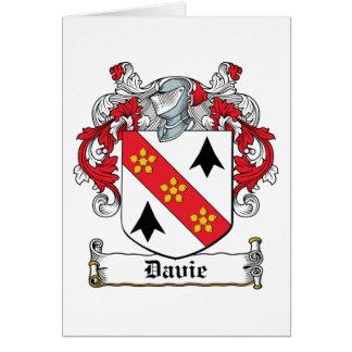 Davie Family Crest Card