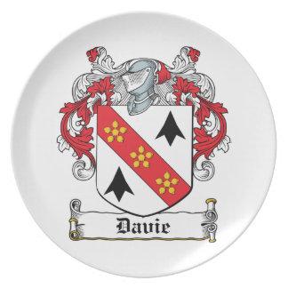 Davie Family Crest Dinner Plates