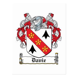 Davie Family Crest Postcard