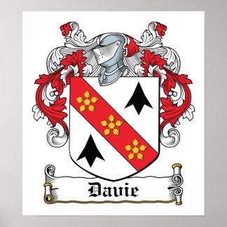 Davie Family Crest Poster