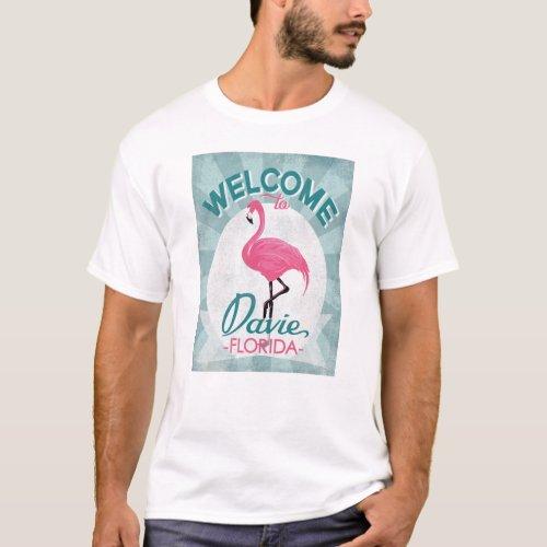 Davie Florida Pink Flamingo Retro