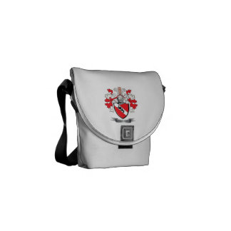 Davies Family Crest Coat of Arms Courier Bag
