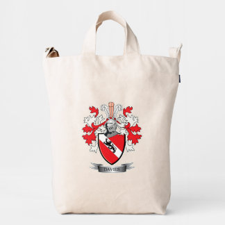 Davies Family Crest Coat of Arms Duck Bag