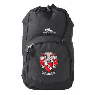 Davies Family Crest Coat of Arms High Sierra Backpack